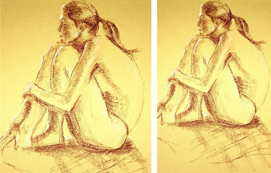 Oil Pastel Figurative Art 01