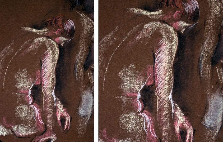 Oil Pastel Figurative Art 04