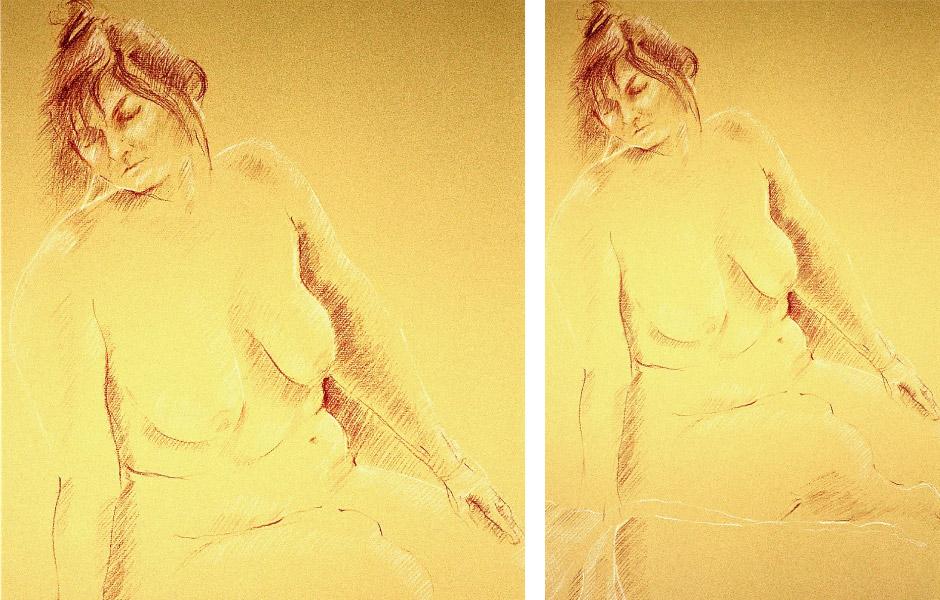 Oil Pastel Figurative Art 06