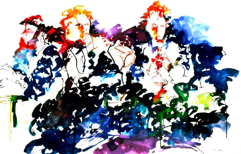 Watercolor Elga Dzirkalis Jazz Series 01