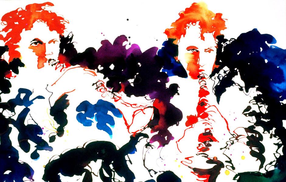 Watercolor Elga Dzirkalis Jazz Series 02