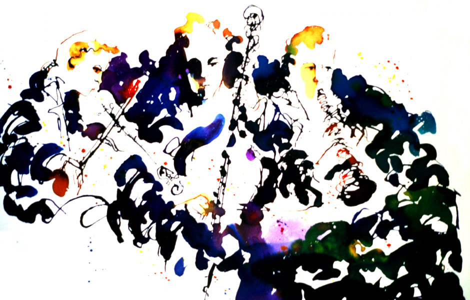 Watercolor Elga Dzirkalis Jazz Series 03