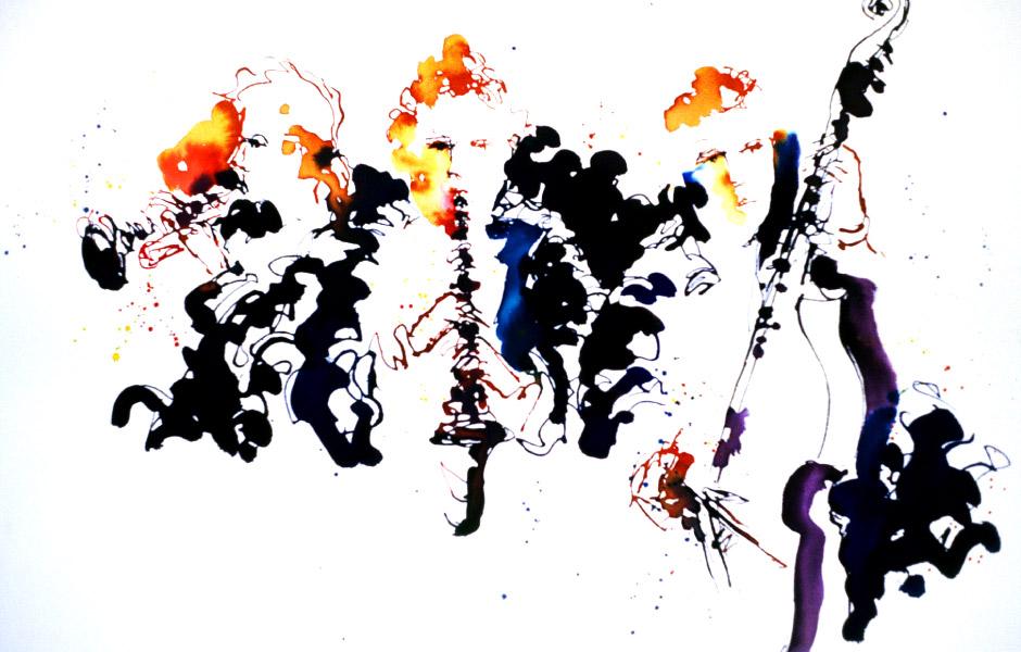 Watercolor Elga Dzirkalis Jazz Series 06