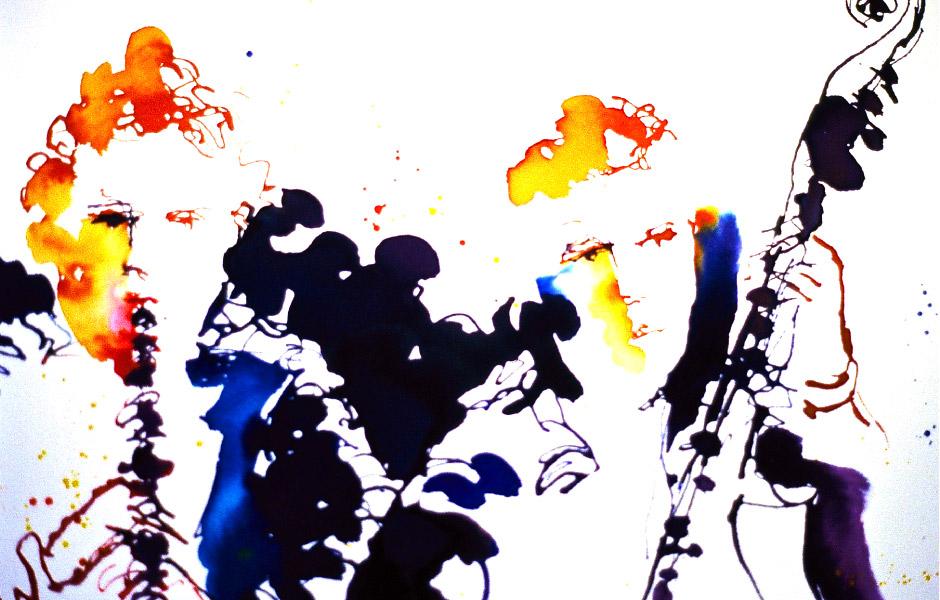 Watercolor Elga Dzirkalis Jazz Series 07