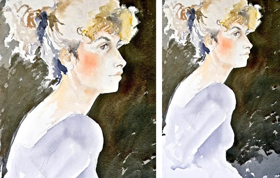Watercolor Elga Dzirkalis Portraits Jan 02