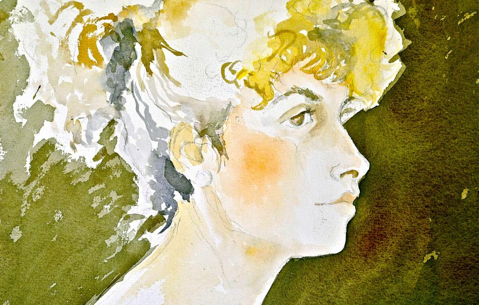 Watercolor Elga Dzirkalis Portraits Jan 03