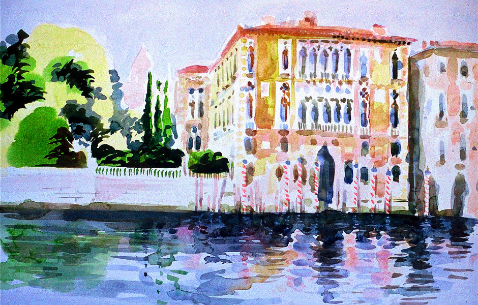 Watercolor Elga Dzirkalis Venice 1 02
