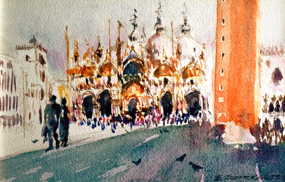 Watercolor Elga Dzirkalis Venice 1 03
