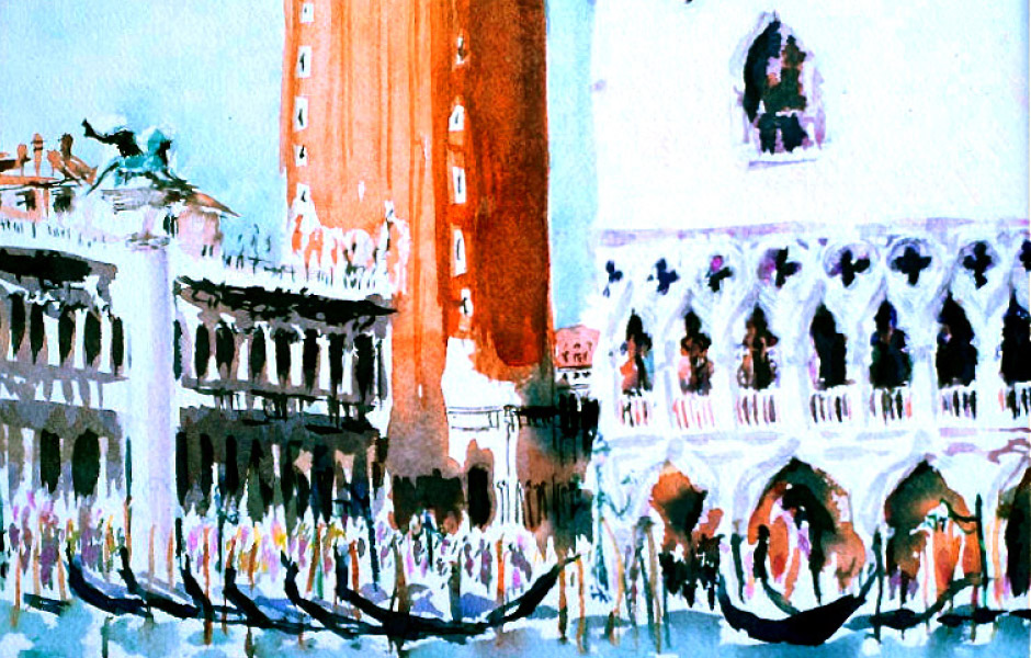 Watercolor Elga Dzirkalis Venice 1 04