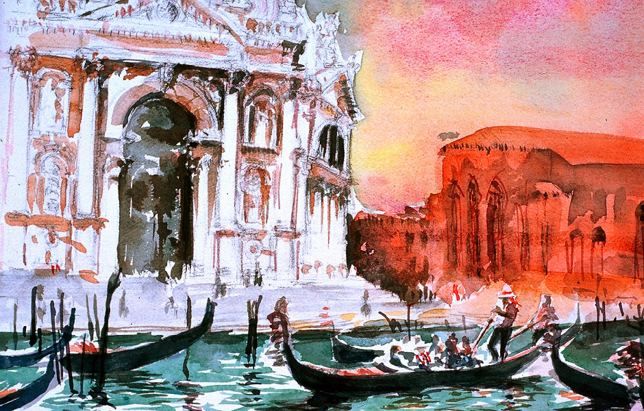 Watercolor Elga Dzirkalis Venice 1 05