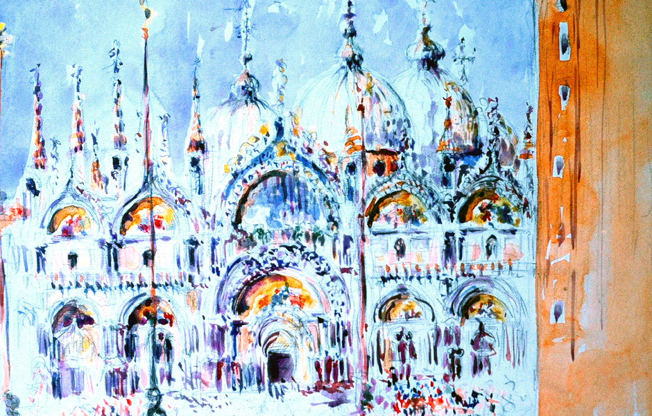 Watercolor Elga Dzirkalis Venice 1 06