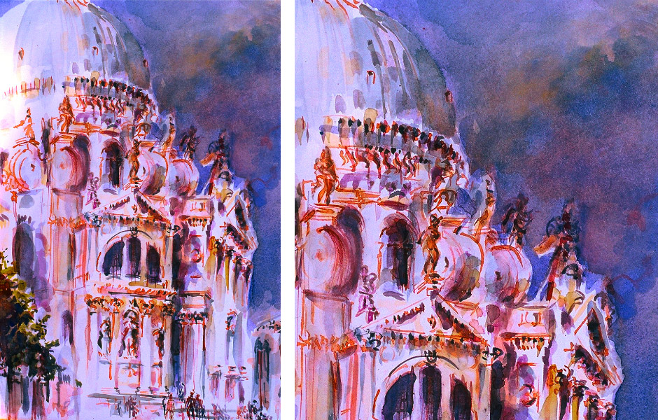 Watercolor Elga Dzirkalis Venice 1 08