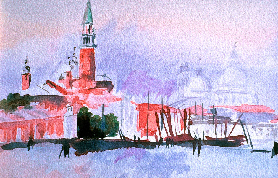 Watercolor Elga Dzirkalis Venice 1 09