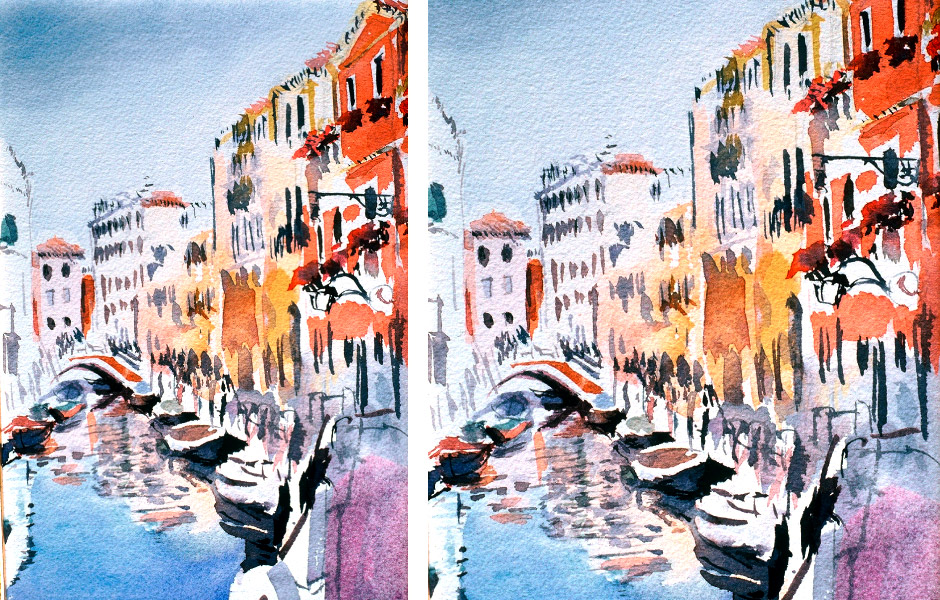Watercolor Elga Dzirkalis Venice 1 10.5