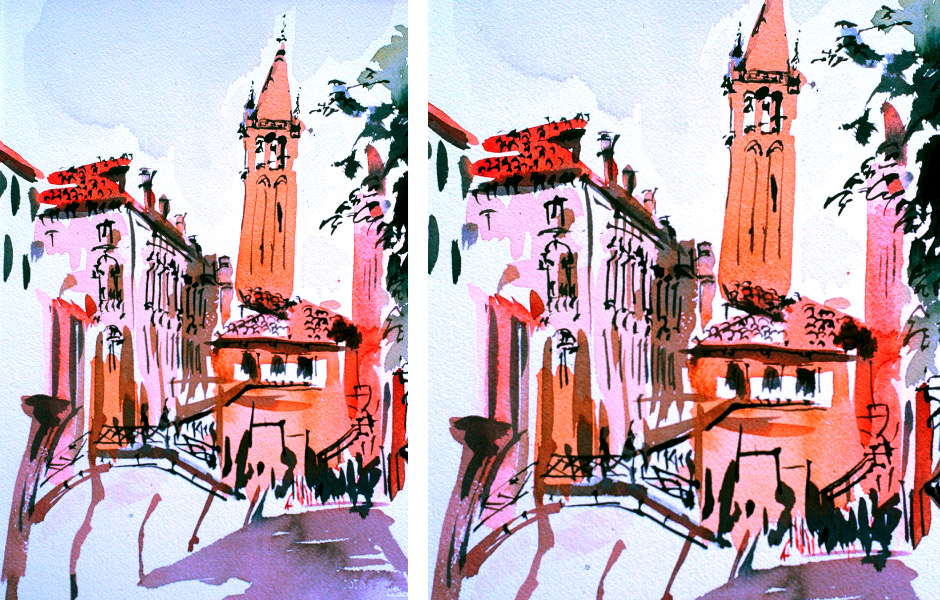 Watercolor Elga Dzirkalis Venice 1 10