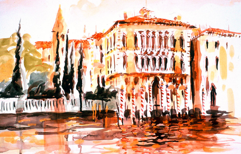 Watercolor Elga Dzirkalis Venice 1 11
