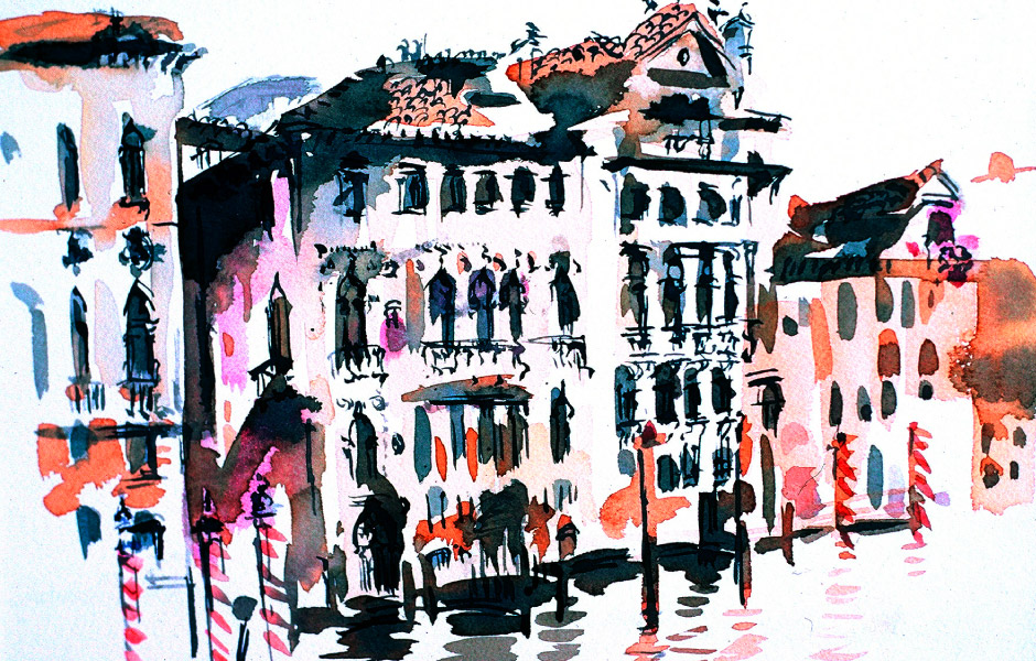 Watercolor Elga Dzirkalis Venice 1 12