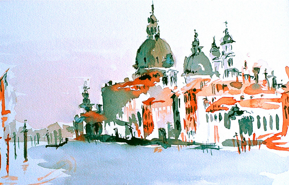 Watercolor Elga Dzirkalis Venice 1 13