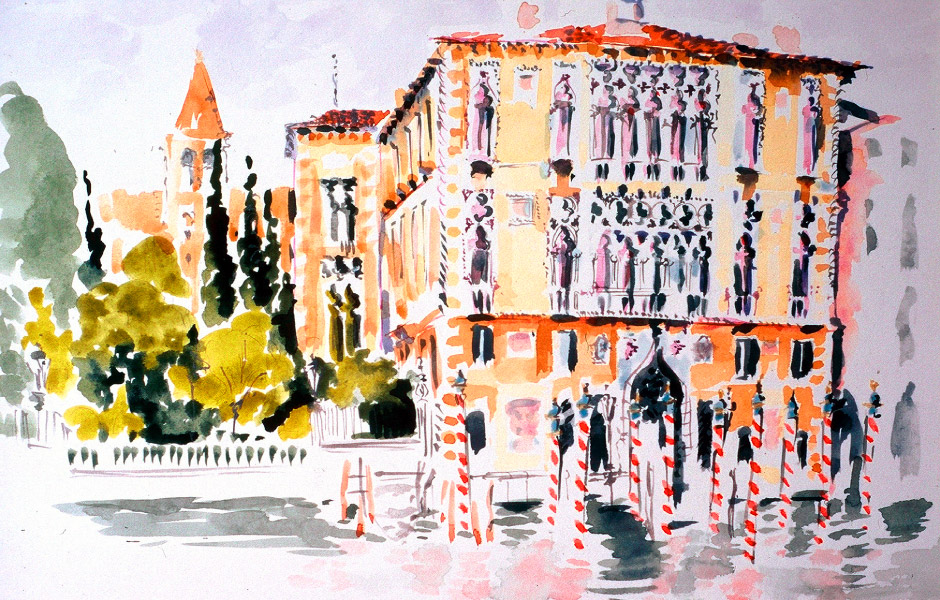 Watercolor Elga Dzirkalis Venice 1 15
