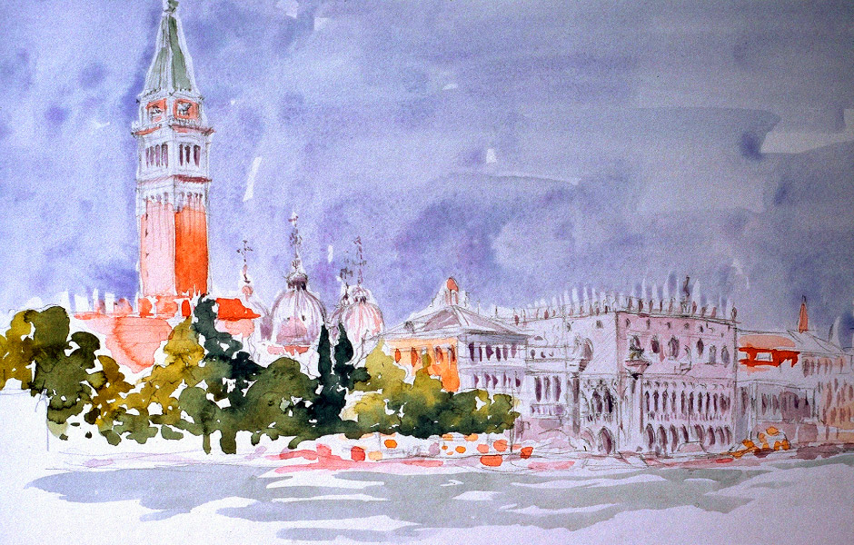Watercolor Elga Dzirkalis Venice 1 16
