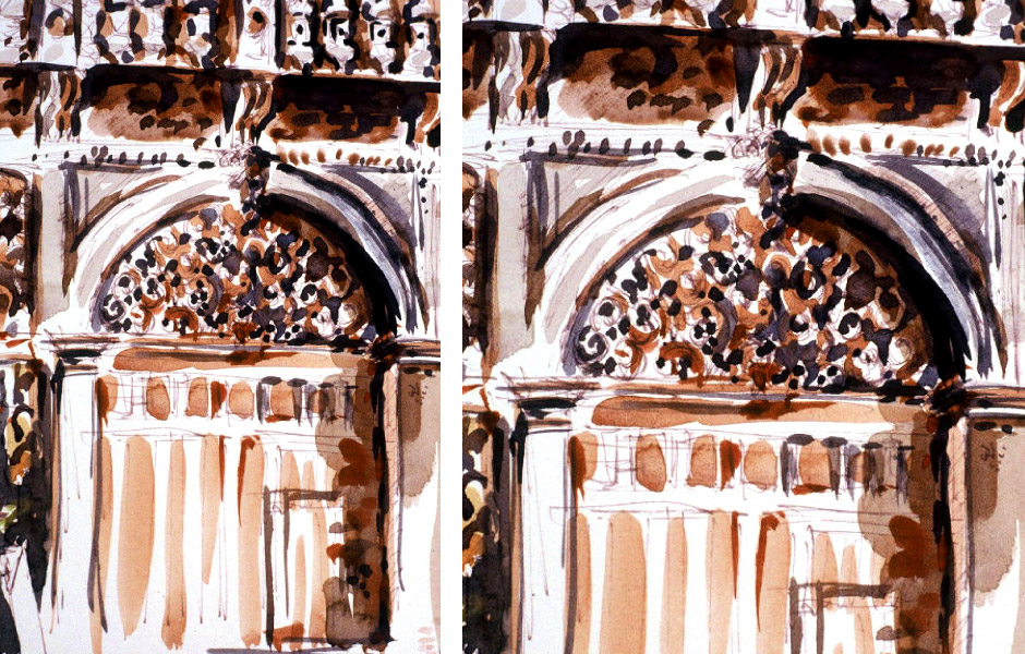 Watercolor Landscape Painting of Venice II 05