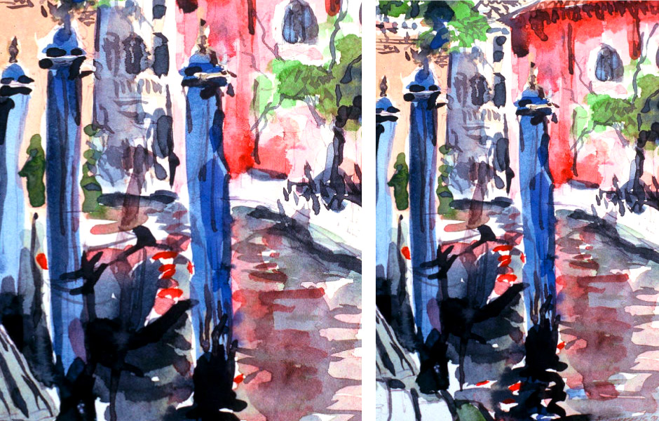 Watercolor Landscape Painting of Venice II 06