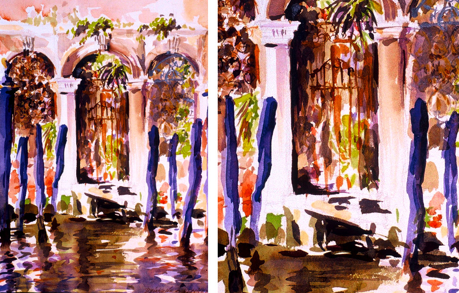 Watercolor Landscape Painting of Venice II 07
