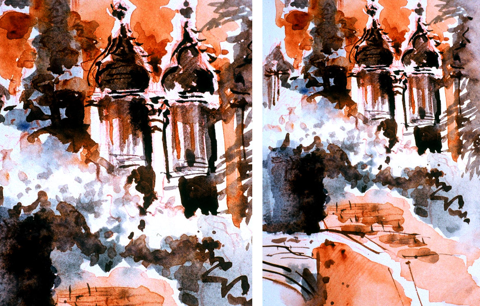 Watercolor Landscape Painting of Venice II 08
